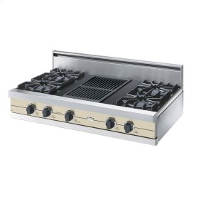 "Biscuit 42"" Open Burner Rangetop - VGRT (42"" wide, four burners 12"" wide char-grill)"
