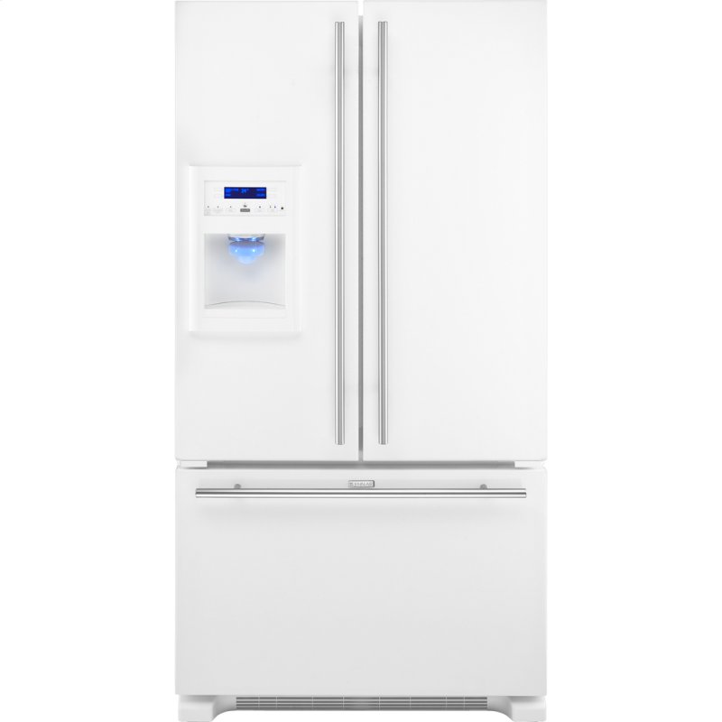 Jenn air cabinet depth french door refrigerator with for Jenn air floating glass refrigerator