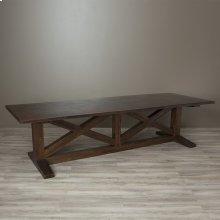 """120"""" Antique Copper Copper Trestle Table"""