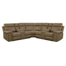Emerald Home Braydon Power Reclining Sectional Badlands Saddle U8051-27-13-28-05-k