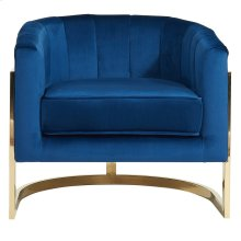 Tarra Accent Chair in Blue & Gold