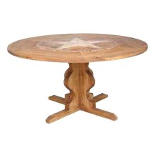 "60"" Round Marble Star Table"