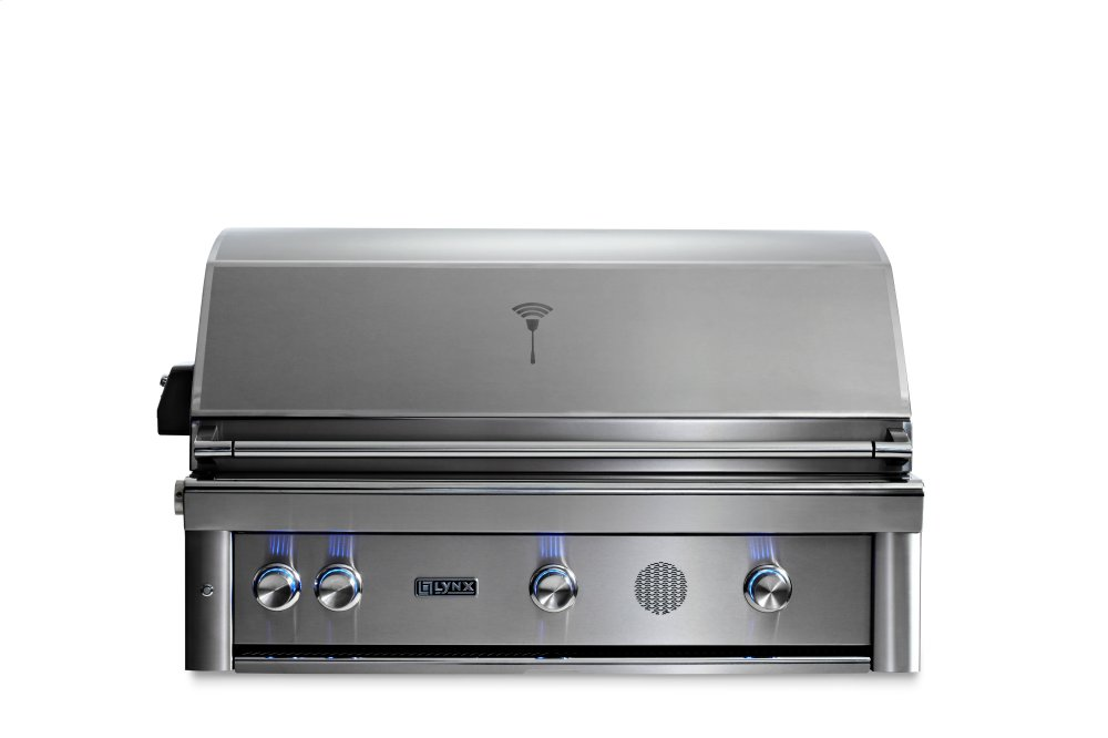 """42"""" Lynx Professional Built In Smart Grill with Rotisserie, NG  STAINLESS STEEL"""