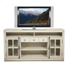 Huntleigh Entertainment Console Vintage White finish