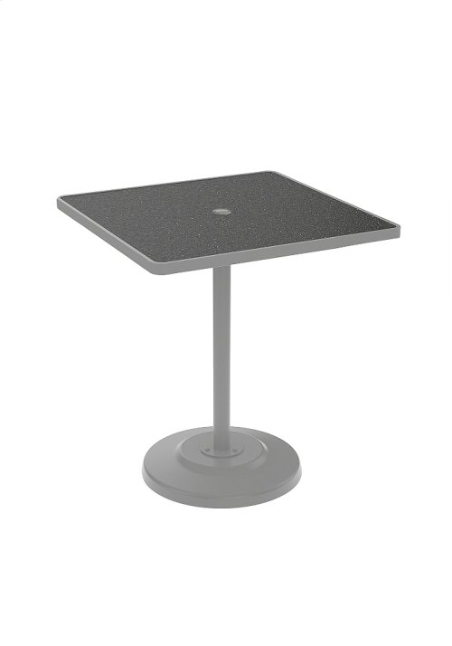 "Raduno 36"" Square KD HPL Pedestal Bar Umbrella Table"
