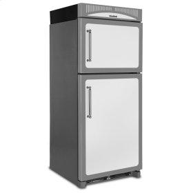White Left Hinge Classic Refrigerator Top Mount Freezer