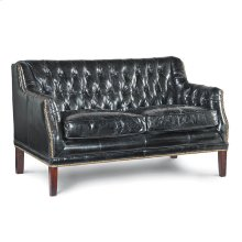 Leather Equestrian Loveseat