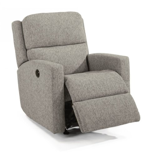 Chip Fabric Power Rocking Recliner
