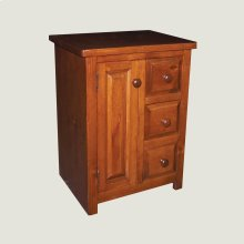 Nightstand - 3 Drawer, 1 Door