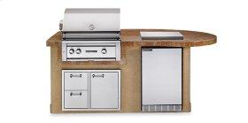 "Deluxe Sandalwood 30"" Sedona Island Package (L2500S)"