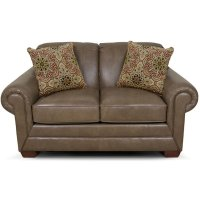 Monore Leather Loveseat 1436LS Product Image