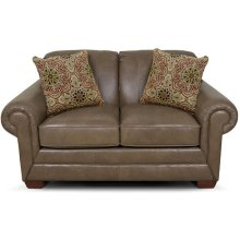 Monore Leather Loveseat 1436LS