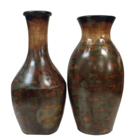 Coll. Italy Bottle & Vases (Set of 2)