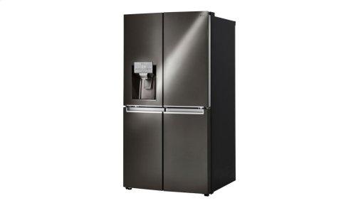 LG Black Stainless Steel Series 23 cu. ft. 4-Door Counter-Depth Refrigerator with Door-in-Door®