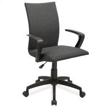 Black Linen Apostrophe Office Chair #10115BL
