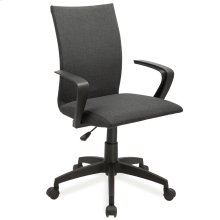 Black Linen Apostrophe Office Chair #10115BL