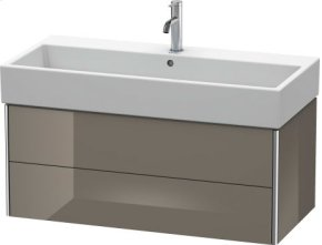 Vanity Unit Wall-mounted, Flannel Grey High Gloss Lacquer