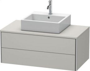 Vanity Unit For Console Wall-mounted, Concrete Gray Matt Decor