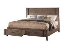 Viewpoint - 6 Piece Queen Solid Panel Storage Bed Set