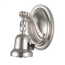 """7""""H 1 LT BRUSHED NICKEL WALL SCONCE"""