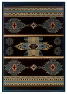 Contours/cem Native Canvas Sblue Rugs