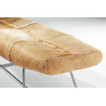 Carey Bench in Cowhide