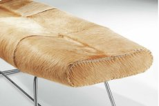 Carey Bench in Cowhide Product Image