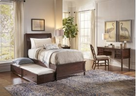 Avignon Birch Cherry Twin Bed W/out Trundle