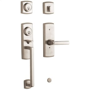 Satin Nickel Soho Two-Point Lock Handleset