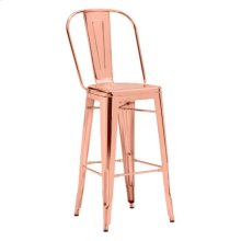 Elio Bar Chair Rose Gold