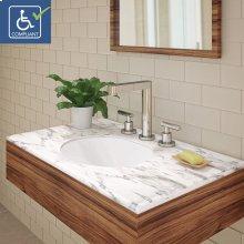 Mayah Oval Undermount Vitreous China Bathroom Sink