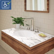 Mayah Oval Undermount Vitreous China Bathroom Sink
