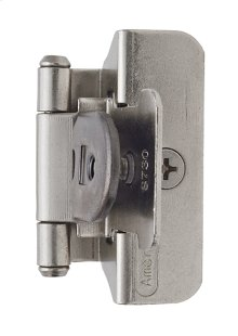 Self-closing, Double Demountable 1/4in(6mm) Overlay Hinge