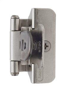 Self-closing, Double Demountable 1/4in(6mm) Overlay Hinge