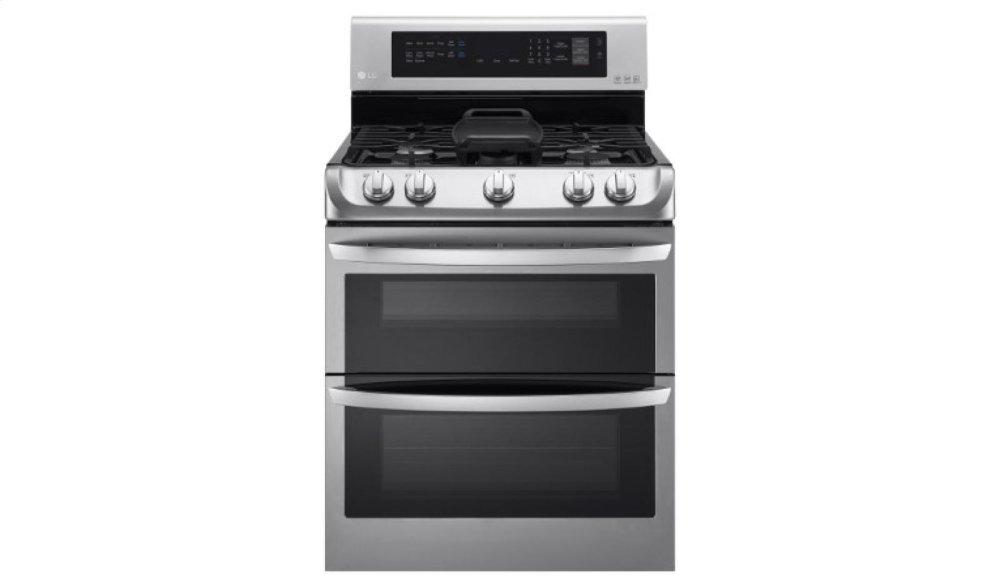 6.9 cu. ft. Gas Double Oven Range with ProBake Convection(R), EasyClean(R) and Gliding Rack
