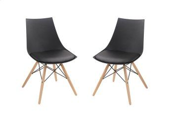 Emerald Home Annette Dining Chair Black Seat-wood Legs D118chr-32blk Product Image