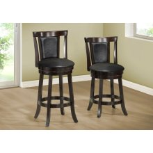 "BARSTOOL - 2PCS / 43""H / SWIVEL / CAPPUCCINO BAR HEIGHT"