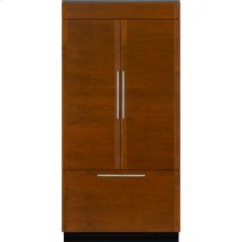 "Integrated Built-In French Door Refrigerator, 42"", Custom Overlay"