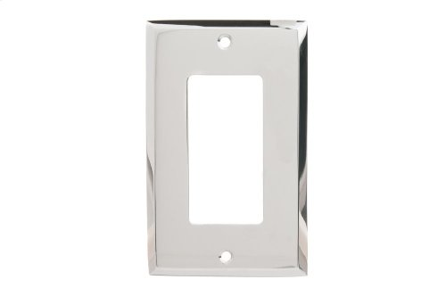 Single GFI Square Bevel Switch Plate - Polished Nickel