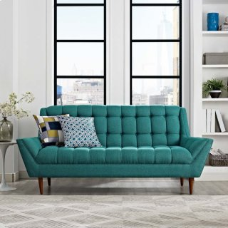 Response Upholstered Fabric Loveseat in Teal