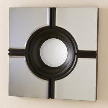 Bulls Eye Cross Mirror-Black