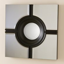 Bulls Eye Cross Mirror-Black