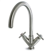 Deco V Bar Faucet with Cross Handles - Polished Chrome
