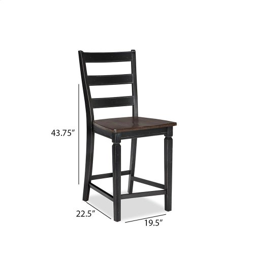 Dining - Glennwood Counter Stool  Black & Charcoal