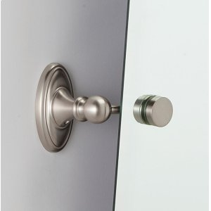 Classic Traditional Mirror Brackets A8091 (Mirrors Sold Separately) - Satin Nickel