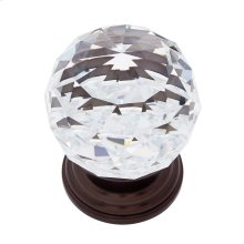 Old World Bronze 50 mm Round Crystal Knob