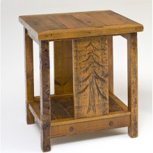 Sequoia Nightstand With Shelf Square