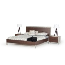 Nova Domus Conner Modern Dark Walnut & Concrete Bed