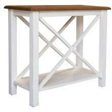Accent Table, Available in Hampton White or Hampton Grey Finish.