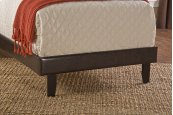 Lawler Footboard & Rails - Twin - Brown Faux Leather